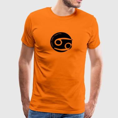 Sterrenbeeld (Cancer) met tekst - Mannen Premium T-shirt