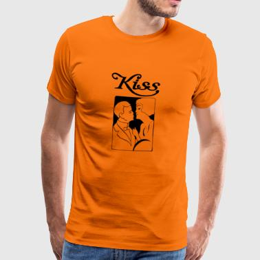 Kiss - Premium T-skjorte for menn