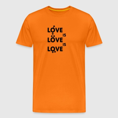 Gay t shirts Love is - Men's Premium T-Shirt