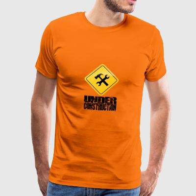 Under Construction - Premium-T-shirt herr