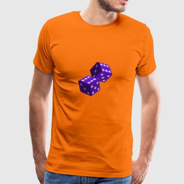 Purple Dice - Premium T-skjorte for menn