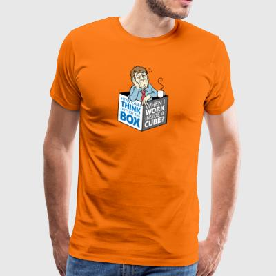 Cant Think Outside The Box,I'm In A Cube! - Men's Premium T-Shirt