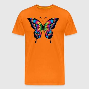 Abstract colorful rainbow colored butterfly - Men's Premium T-Shirt