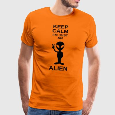 ++ ++ Just an Alien - Mannen Premium T-shirt