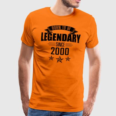 Born to be legendary since 2000 17 years - Männer Premium T-Shirt