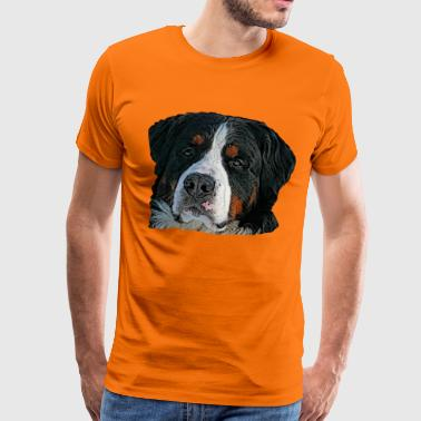 Dog, dog head, dog face, dog , - Men's Premium T-Shirt