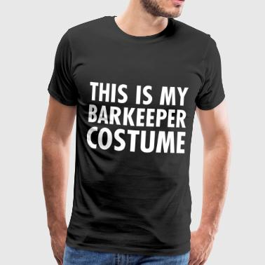 This Is My Barkeeper Costume - Mannen Premium T-shirt