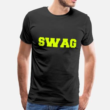 Hiphop Lyric SWAG - Men's Premium T-Shirt
