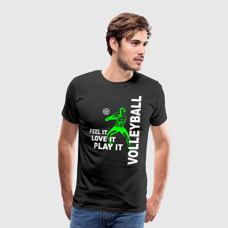 Volleyball - feel it love it play it - Männer Premium T-Shirt
