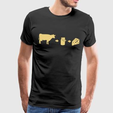 Cheese-shirt Évolution de lait - T-shirt Premium Homme