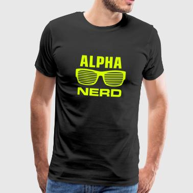 alphanerd nerdbrille nerd is the new sexy big bang - Männer Premium T-Shirt