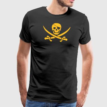 Pirate flag blackjack - Men's Premium T-Shirt
