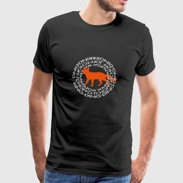 What Says The Fox 2 - Männer Premium T-Shirt