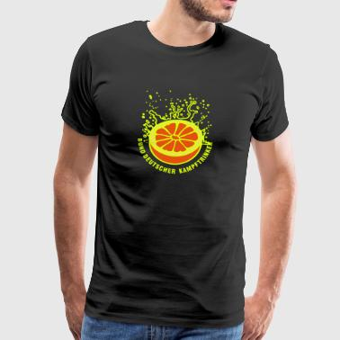 Saftig-spritzige Orange / juicy orange (3c) - Männer Premium T-Shirt