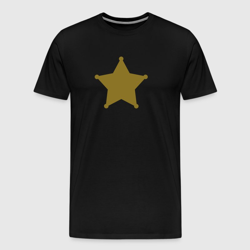 Sheriff Star, Old West, Wild, American, Badge - Men's Premium T-Shirt