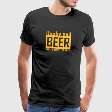 rugby and beer - Männer Premium T-Shirt