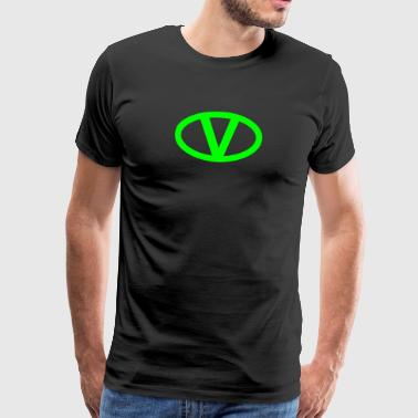 V like vegan symbol comic style, save earth nature - Koszulka męska Premium