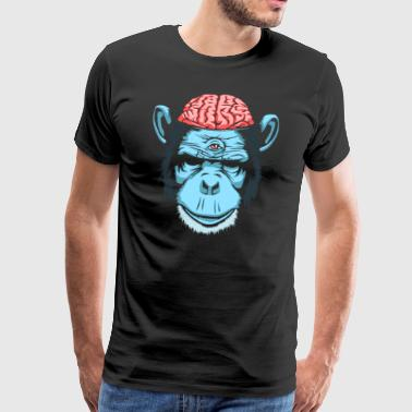 Brain Chimp - Premium-T-shirt herr