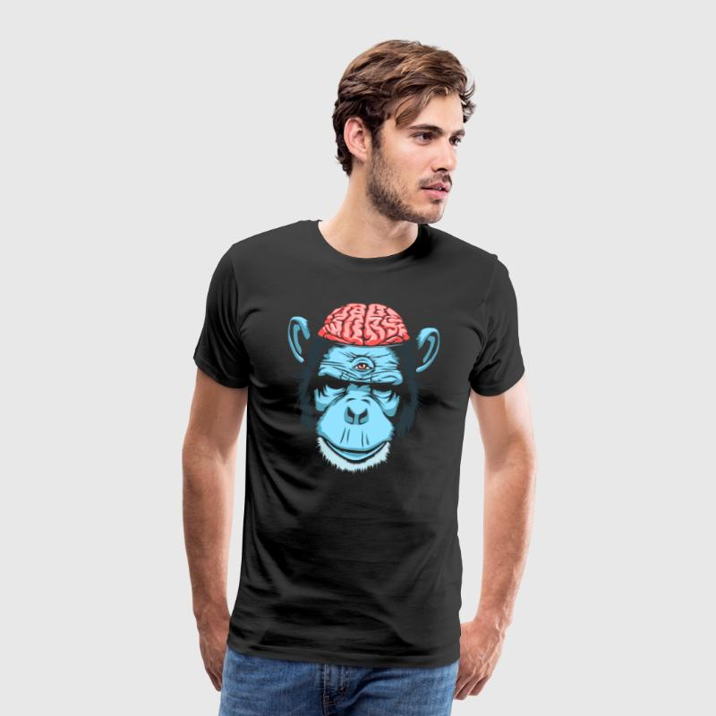 Brain Chimp - Herre premium T-shirt
