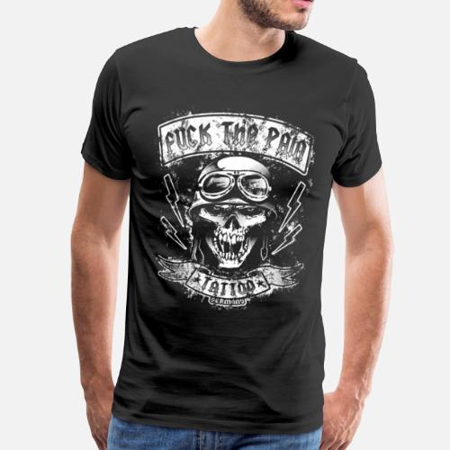 Vintage Biker Skull Manner Premium T Shirt Spreadshirt