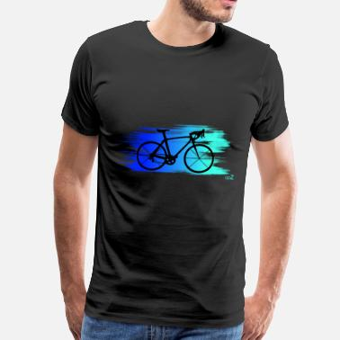 Bike speed blue - T-shirt Premium Homme