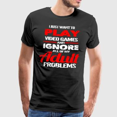 Video Games - No Problems - Gamer T-shirt - Men's Premium T-Shirt
