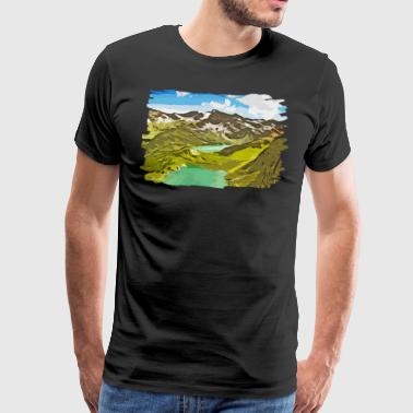 gxp alpine view mountains vector art - Men's Premium T-Shirt