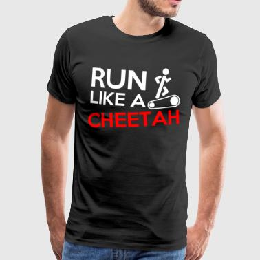 Design Run like a cheetah - Premium T-skjorte for menn