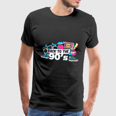 Old School - Back To The 90's - Men's Premium T-Shirt