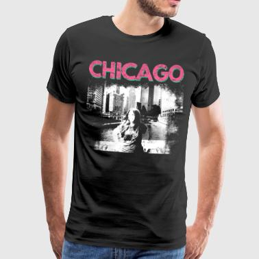 Chicago chicago usa city america gift gift idea - Men's Premium T-Shirt