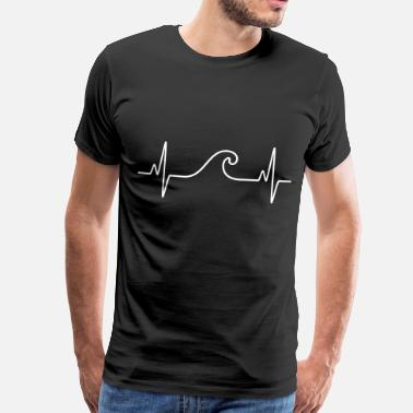 Surf Surf  The Wave | Funny Heartbeat Design - Camiseta premium hombre