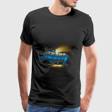 Saved rhino - Männer Premium T-Shirt