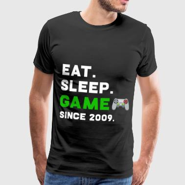 Eat Sleep Game Sinds 2009 gokker gokken - Mannen Premium T-shirt