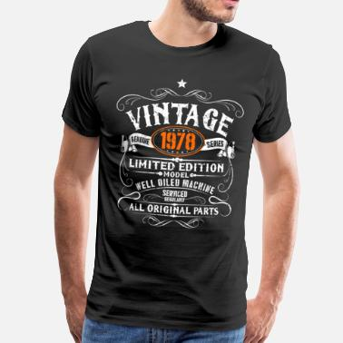 Birthday 40th Birthday - Vintage 1978 Gift Funny - Men's Premium T-Shirt