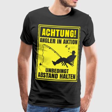 Angler Achtung! Angler in Aktion - Männer Premium T-Shirt