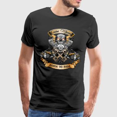 Trike Skull Motor with Trike Born to Ride T-Shirt - Men's Premium T-Shirt