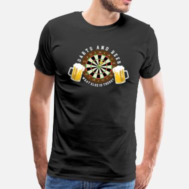 Dart Dart och öl - Dart turnering Sports Fun - Premium-T-shirt herr