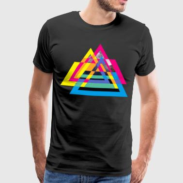 CMYB Triangle - T-shirt Premium Homme