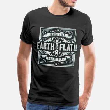 Erde Earth is Flat - Flache Erde - Flatearth Shirt - Männer Premium T-Shirt