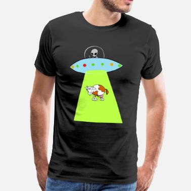 Cow Ufo Cow and UFO - Men's Premium T-Shirt