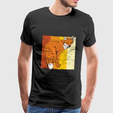 Animal print gift foxes - Men's Premium T-Shirt