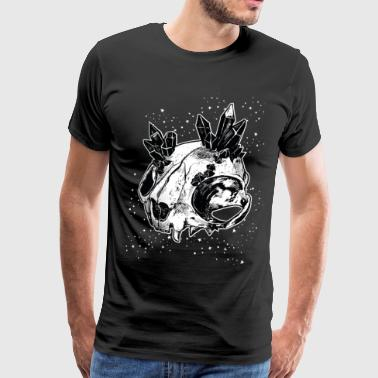 Starry Sky Cat skull crystal - Men's Premium T-Shirt