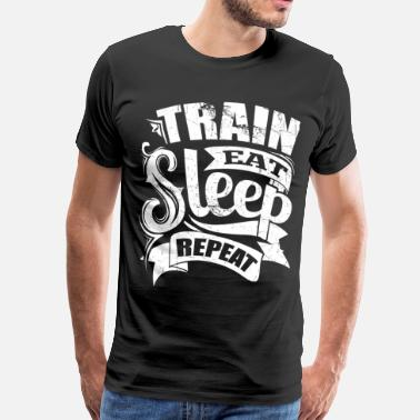 Sports Sayings Train Sports Gym Quotes - Men's Premium T-Shirt