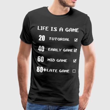 Computer Art Life is a game - Men's Premium T-Shirt