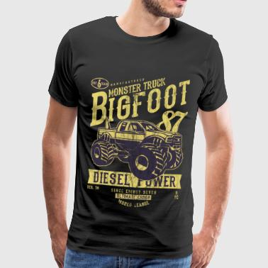 Pick Up Truck MONSTER TRUCK BIG FOOT - Vintage Truck Shirt Motif - Men's Premium T-Shirt