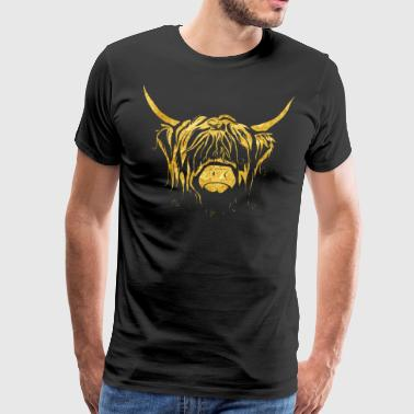 Golden Highland Cow - Men's Premium T-Shirt