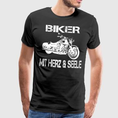 BIKER with HEART and SOUL - Men's Premium T-Shirt
