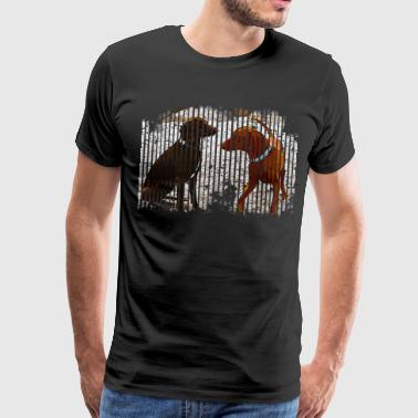 gxp rhodesian ridgeback on the beach vector art - Men's Premium T-Shirt