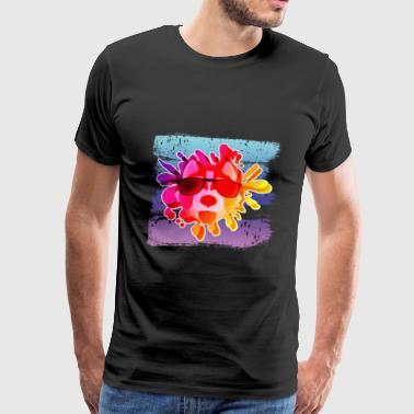 Chien cool chien pop art - T-shirt Premium Homme