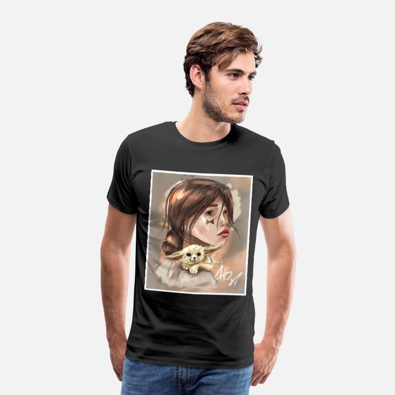 Design T-Shirts - Sand Girl - Men's Premium T-Shirt black